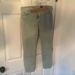 AG Adriano Goldschmied Stevie aqua corduroy jeans